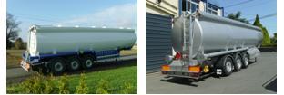 hliníková cisterna pro přepravu pohonných hmot
